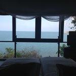 窓一面の海!