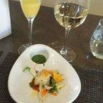 Delicious fried zuchini flower dish