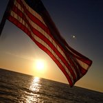 American sunset with cool beans cruises