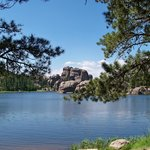 Sylvan Lake - Had our picnic here - across from all the activity.