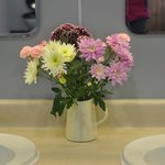 Fresh flowers, clean and fantastic hot water!
