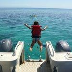 snorkelling off Nukubati