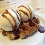 Hot Waffle with Ice Cream