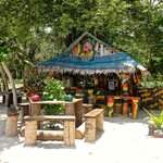 reggae bar at outher end of beach