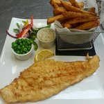 Fresh beer battered haddock and chips