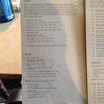 Coffee and drinks menu