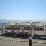 Cabanas on beach