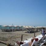 Lots of cabanas on beach