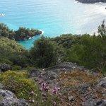 Magnificent coastal views on walk from Kayakoy to Oludeniz