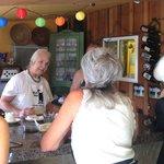 Cheesmaker Joan explaining our tasty morsels