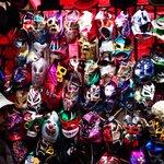 Barraquinha de mascaras de luta mexicana na brick lane