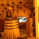 Display and video of how wine barrels are made