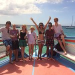 our group on the Swanky boat