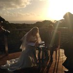 Wedding ceremony on our deck
