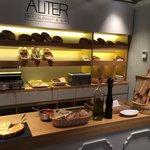 Bread station at breakfast
