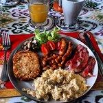 Big English breakfast from breakfast menu