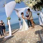 wedding set up at Nora Beach resort