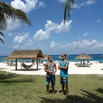 Guys on the beach