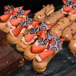 Chocolate, Strawberry and Caramel Eclairs