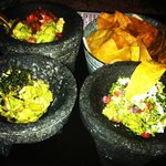 Trio of guac....yum