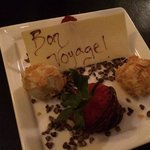 personalized truffle dessert
