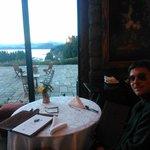 Vista al lago desde el salón de té