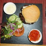 The Most Amazing Burger Ever!  Great Relish!