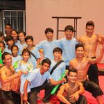 Taramana kids and artists from Phare Cambodian Circus