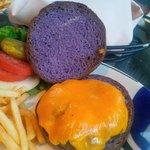 Koko Cafe Hamburger on Taro Bun, Yumm