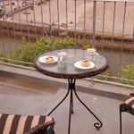 Debbies cream tea on the balcony!