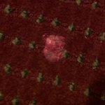 gum on the carpet