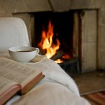 Guest Lounge, Open Fire, Good Book & Coffee!