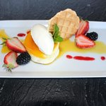 Cliffside Classic Lilikoi Cheesecake with Passion Fruit Puree
