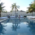 Main pool - set up for wedding