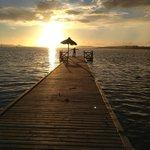 couché de soleil sur le ponton