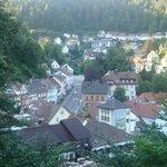veduta di Triberg dall'alto