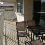 Very spacious lanai w/ table and chairs