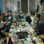Barbecue party at the hostel - may, 2014