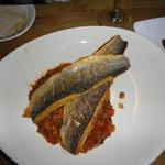 Seabass and ratatouille
