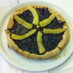 La fameuse pizza banane-chocolat d'Olmuccio