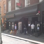 Outside the new look Ronnie Scotts on May 14th, 2014