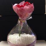 硝子の砂とお花。