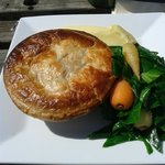 Chicken and Asparagus Pie with Creamy Mash!