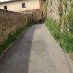 Biking in a village near Florence