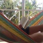 Hängemattenentspannug auf der Veranda
