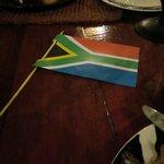 flag down = I'm done