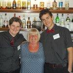 pleasant bar staff with my partner
