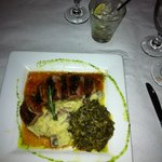 Duck w/ Wasabi Mashed Potatos and Creamed Spinich