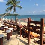by the beach bar