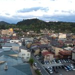 View of Takayama from the rooftop onsen